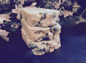 an organic creamy coconut lemon lime goats milk soap