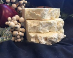 spicy lemon and tea tree salt bar for exfoliation