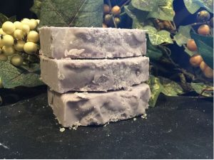 handcrafted anise, mint, lavender salt bar for exfoliation by www.lionsmarketbyann.com