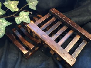 wooden soap dish with drainage holes