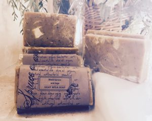 Black Spruce & Sage & Nettles lifts the heart, fights fatigue, smoothes skin issues such as dermatitis, eczema, psoriasis & seborrhea dermatitis and improves memory