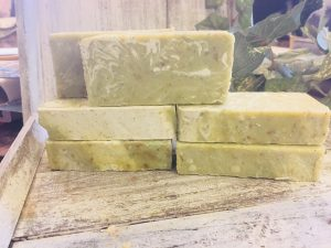 Spicy lime infused with nettle herbs and french green clay from lions market by ann