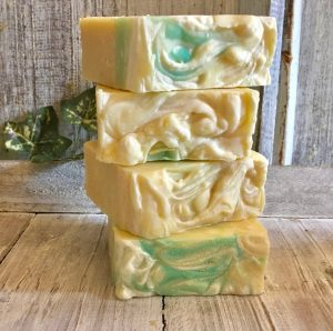 natural, organic geranium goats milk soap by Lion's Market by Ann