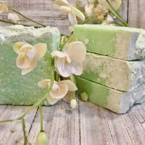 Eucalyptus and Spearmint Goat's Milk Salt Bar by Lion's Market by Ann